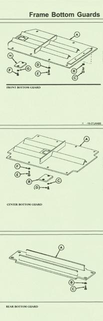 John Deere 755B Crawler Remove/Install Front Bottom,Center & Rear Frame Guard