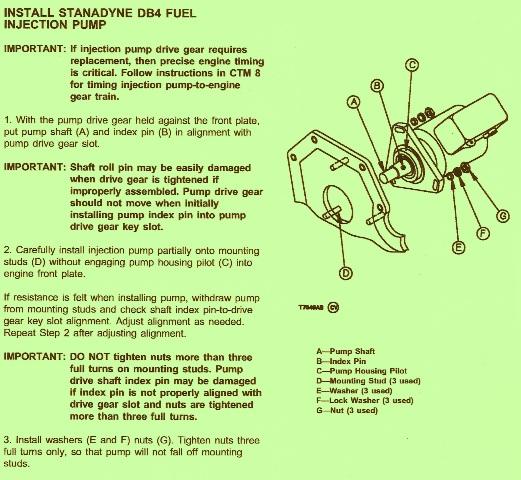 John Deere Crawler 755B – Install Fuel Injection Pump