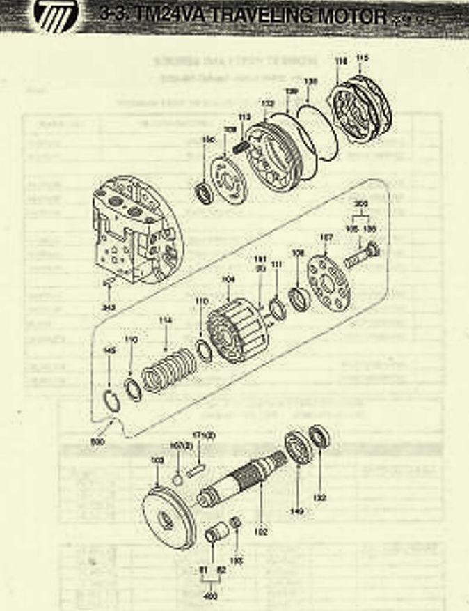 Kawasaki Traveling Motor Separation Plate Diagram