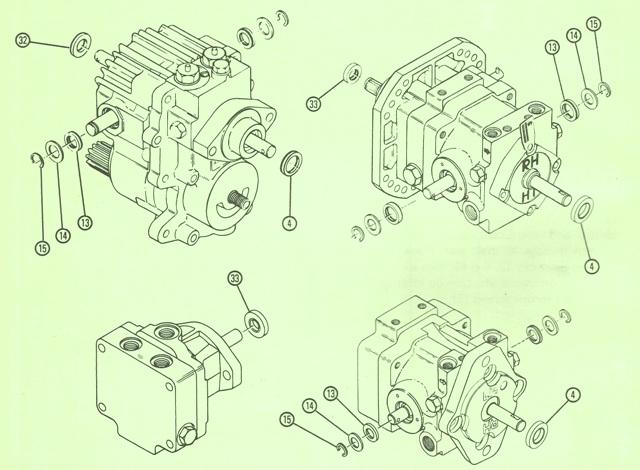 Sundstrand Sauer Danfoss Series 15 – All Types Shaft & Trunnion Replacement