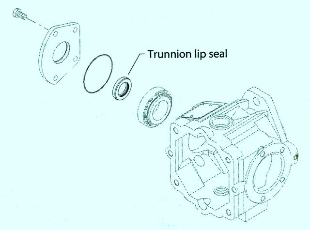 Sundstrand Sauer Danfoss Series 40 M46 Trunnion Lip Seal