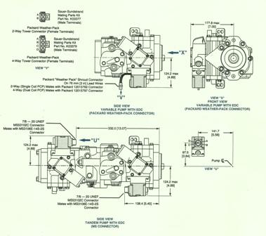 Sundstrand Sauer Danfoss Series 40 M46 EDC and Three Way Controls