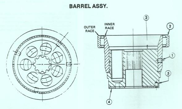 Denison Hydraulic Pump Barrel & Bearing Assy Part 1
