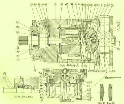 Denison Piston Variable Displacement Series  P46V Model D Volume Pump