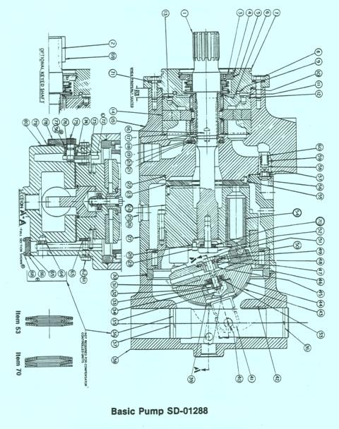 Denison Model E Series P46P Hydraulic Piston Pump – Basic