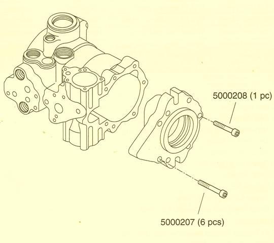 Sundstrand Sauer Danfoss Series 40 M46 Variable Pump Front Cover Change