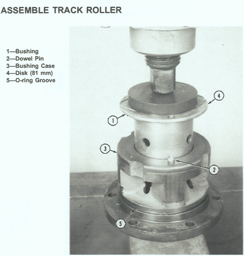 John Deere Crawler 755B Track Roller