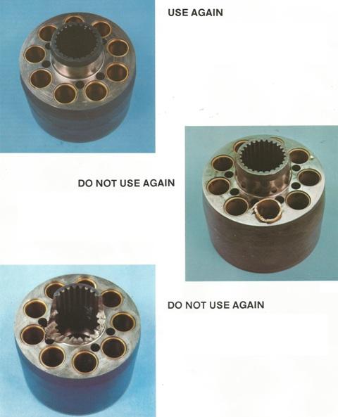 Sundstrand Sauer Danfoss Series 20 Good & Bad Cylinder Blocks