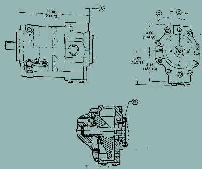 Vickers PVP & PAVC Variable Volume Piston Pump Thru Shaft Options