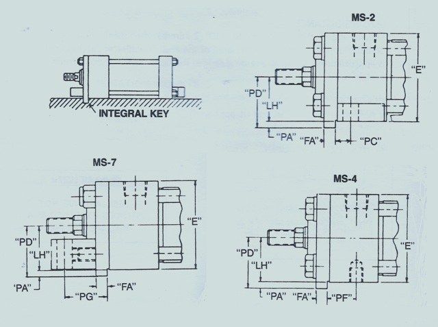 Rexroth Cylinder Extended Key Plate
