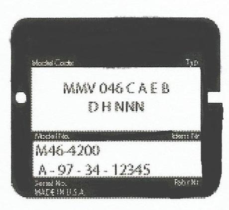 Sundstrand Sauer Danfoss Series M46 Unit ID