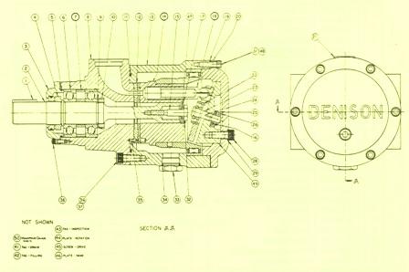 Denison Hydraulic Series 2-700/ 3-700 Fixed Displacement Pump & Motor Port Block