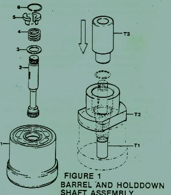 Denison Goldcup M6 – C/ M7 – A Barrel & Hold-down Shaft Assy