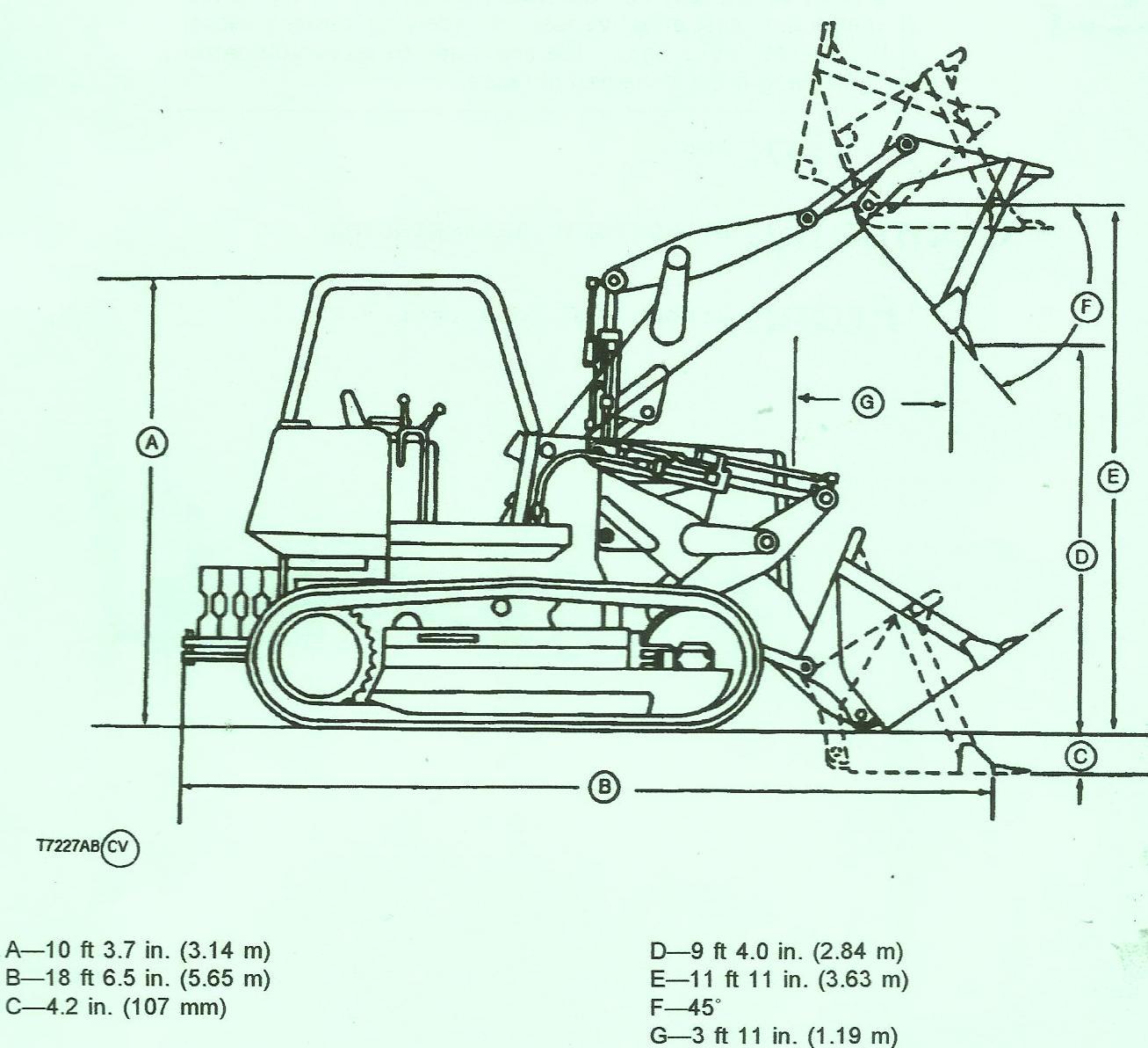 John Deere Crawler Loader 755B Specifications
