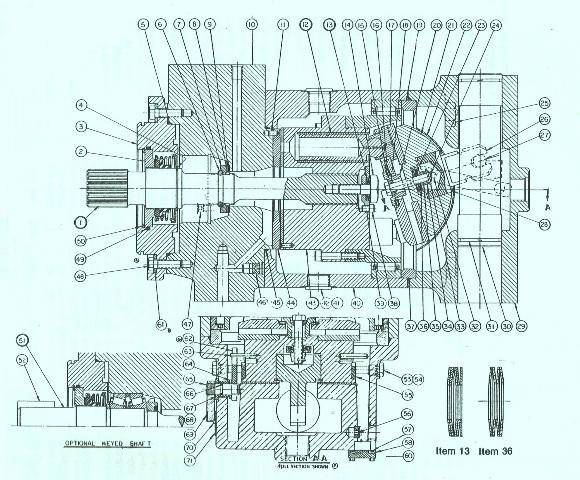 Denison Series M46H Model E Basic Motor