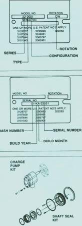 Sundstrand Sauer Danfoss Hydraulic Series 20 General ID & Parts Kits