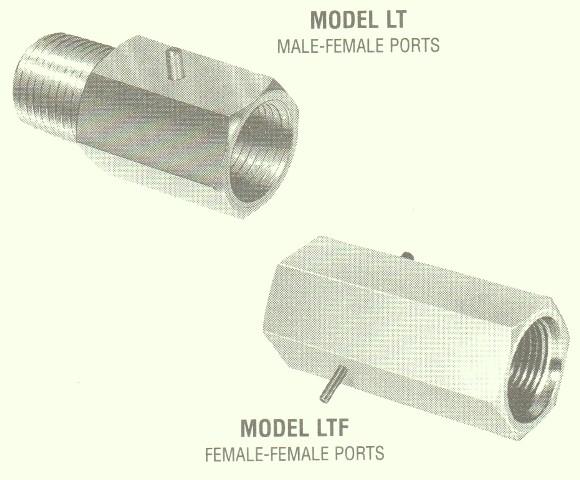 Line Check Throttle Valves